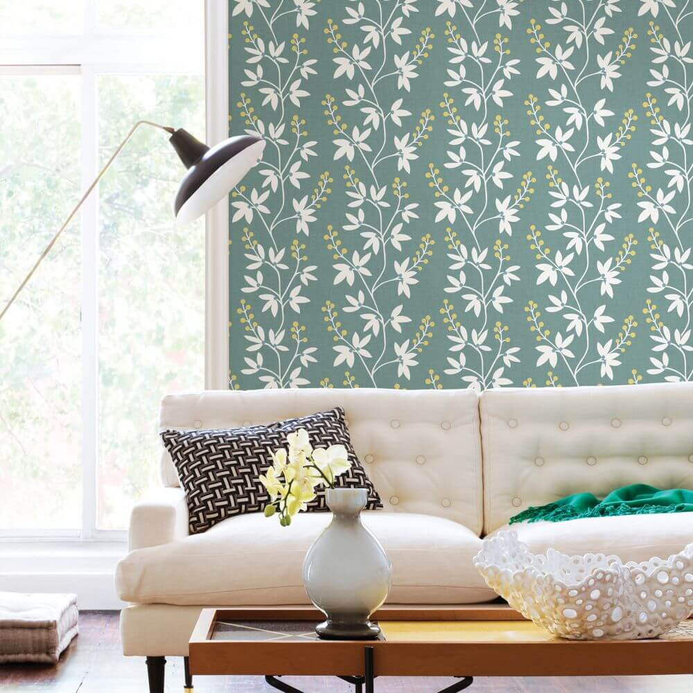 A Street Prints Linnea Teal Wallpaper - Product code: FD25440