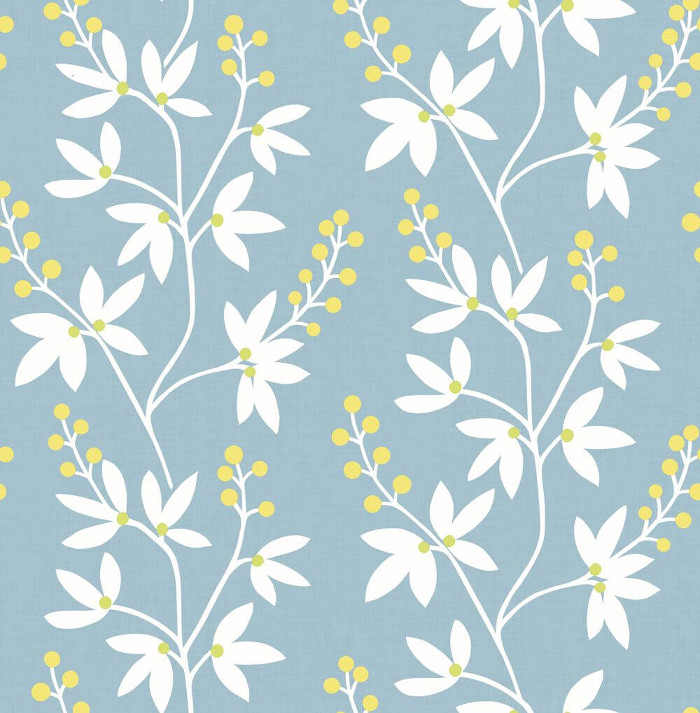 A Street Prints Linnea Blue Wallpaper - Product code: FD25442