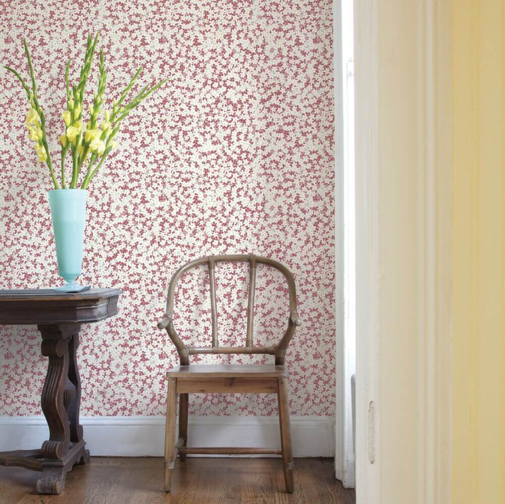 A Street Prints Giverny Pink / Grey Wallpaper - Product code: FD25446