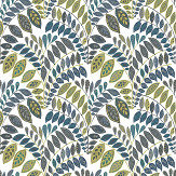 A Street Prints Fiddleheads Blue / Green Wallpaper - Product code: FD25142