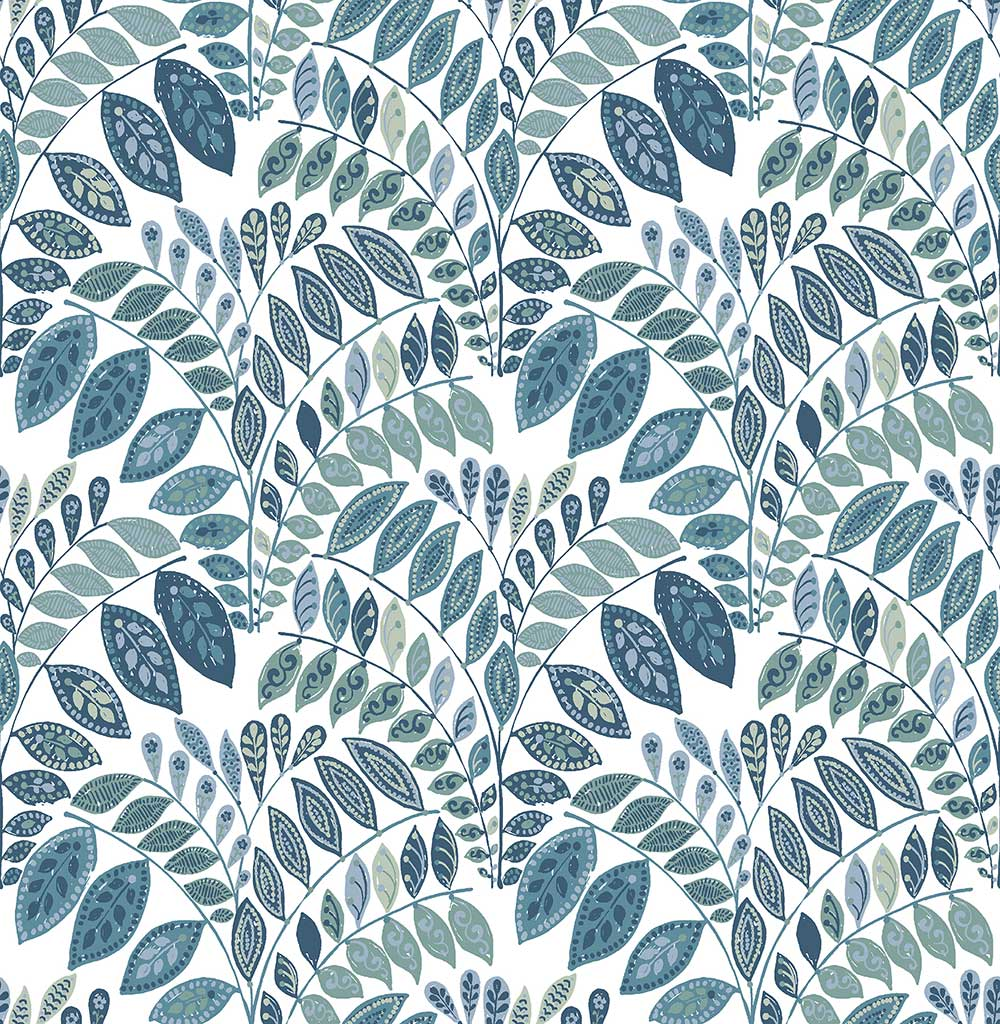 A Street Prints Fiddleheads Blue Wallpaper - Product code: FD25144