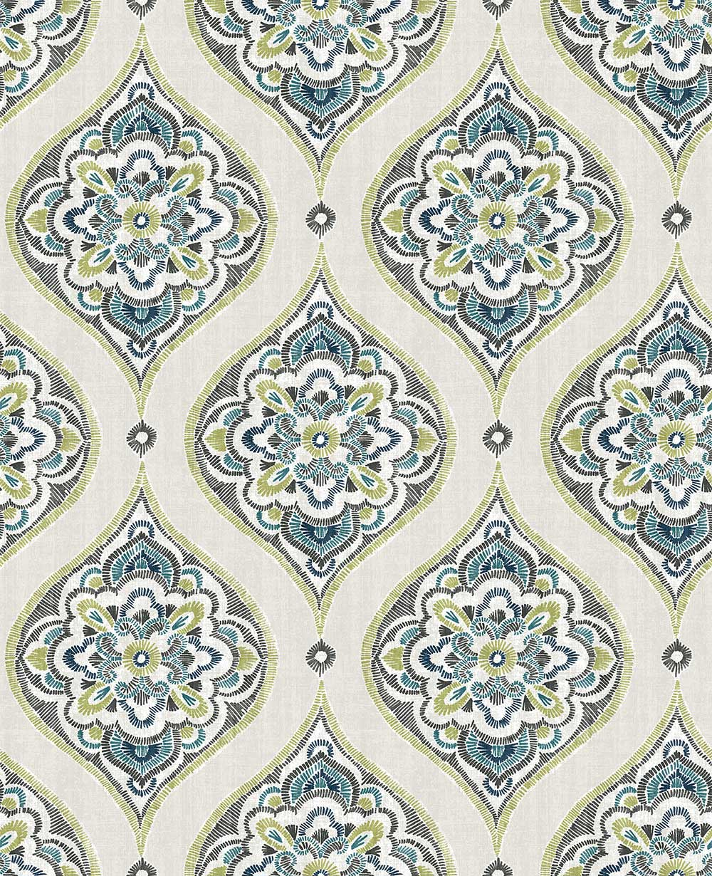 A Street Prints Adele Blue / Green Wallpaper - Product code: FD25148