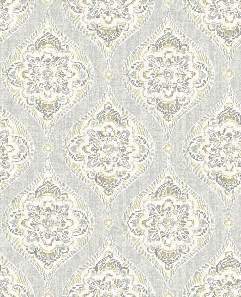 A Street Prints Adele Grey / Beige Wallpaper - Product code: FD25149