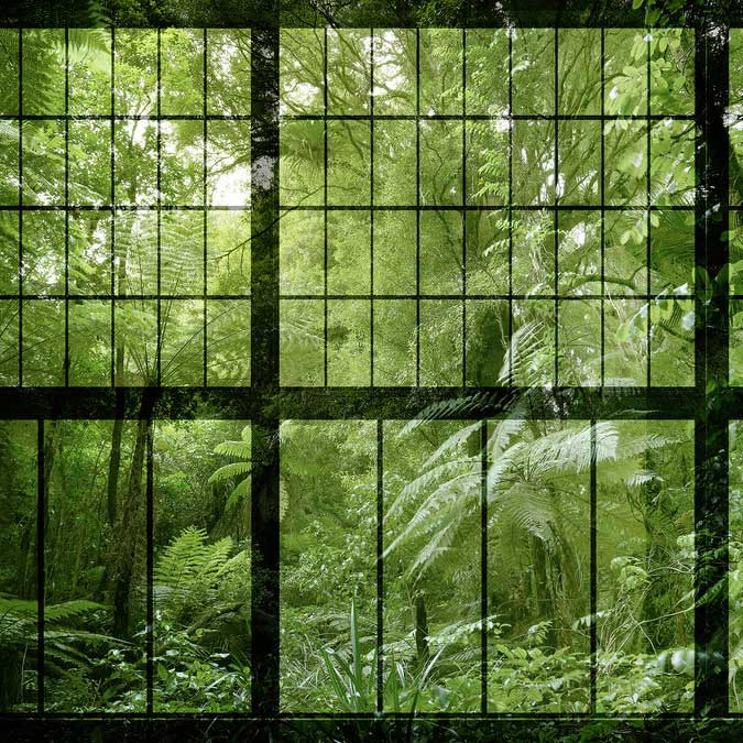 Rainforest 2 Mural - Green - by Walls by Patel
