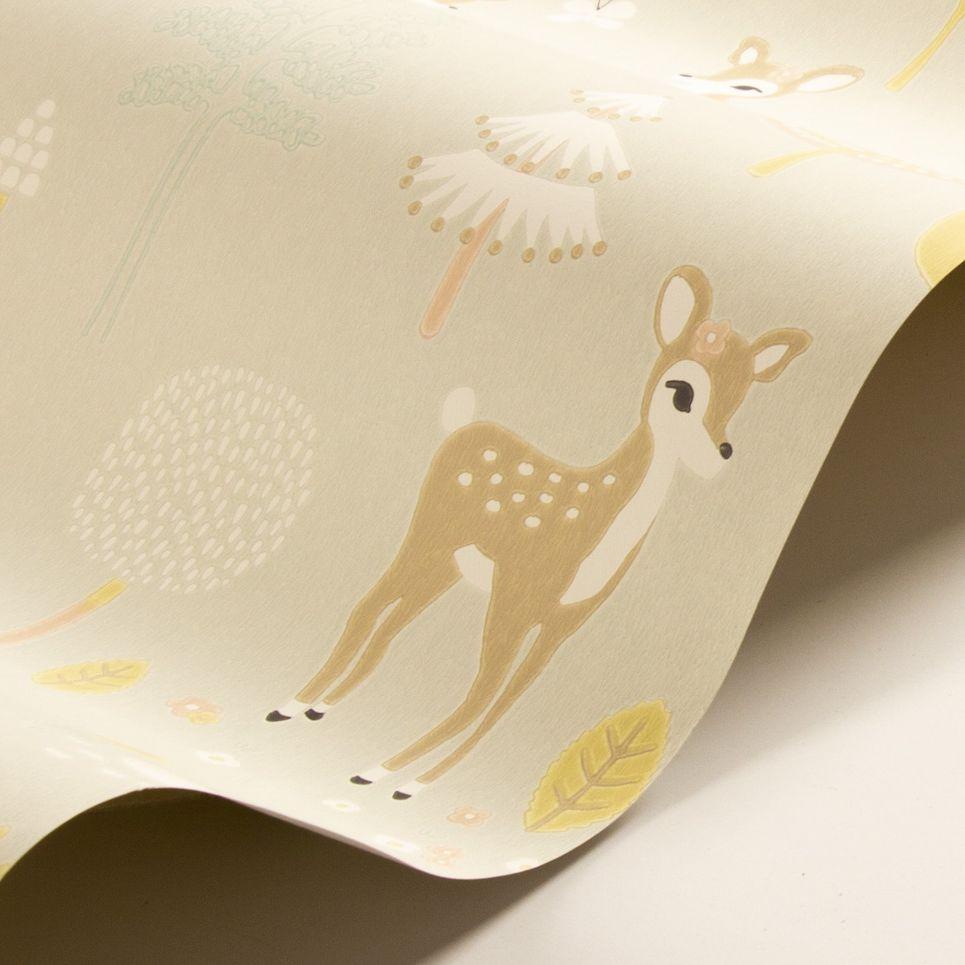 Majvillan Golden Woods Soft Grey Wallpaper - Product code: 125-01
