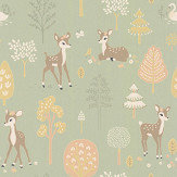 Majvillan Golden Woods Dusty Green Wallpaper - Product code: 125-02