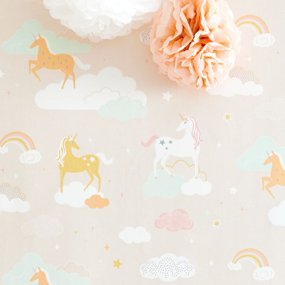 Majvillan Rainbow Treasures Lovely Pastel Pink Wallpaper - Product code: 129-03