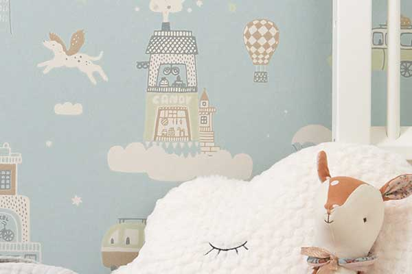 Majvillan Above the Clouds Soft Blue Wallpaper - Product code: 131-02