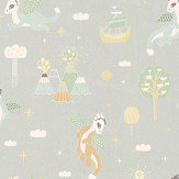 Majvillan Magical Adventure Soft Grey Wallpaper - Product code: 133-01