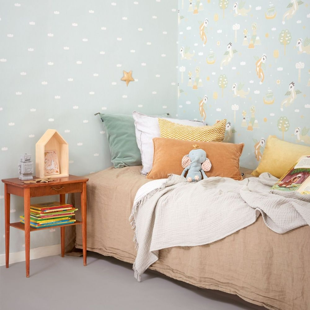 Majvillan Magical Adventure Dusty Blue Wallpaper - Product code: 133-02
