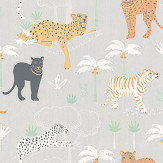 Majvillan Black Panther Light Grey Wallpaper - Product code: 134-01