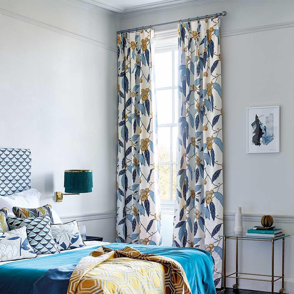 Coppice By Harlequin Saffron Cobalt Fabric