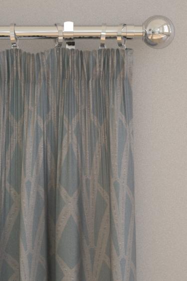 The Chateau by Angel Strawbridge Broadway Azure  Curtains - Product code: BRO/AZU/13700FA