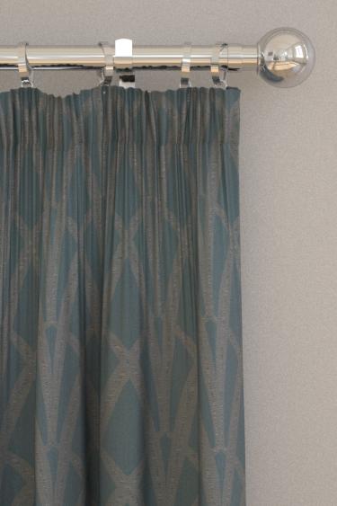 The Chateau by Angel Strawbridge Broadway Teal Curtains - Product code: BRO/TEA/13700FA