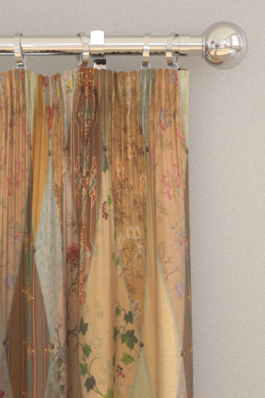 The Chateau by Angel Strawbridge Wallpaper Museum Multi-coloured Curtains - Product code: WAP/MUL/14000FA