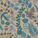 Christian Lacroix Cueillette Blue/ Gold Wallpaper - Product code: PCL7024/01