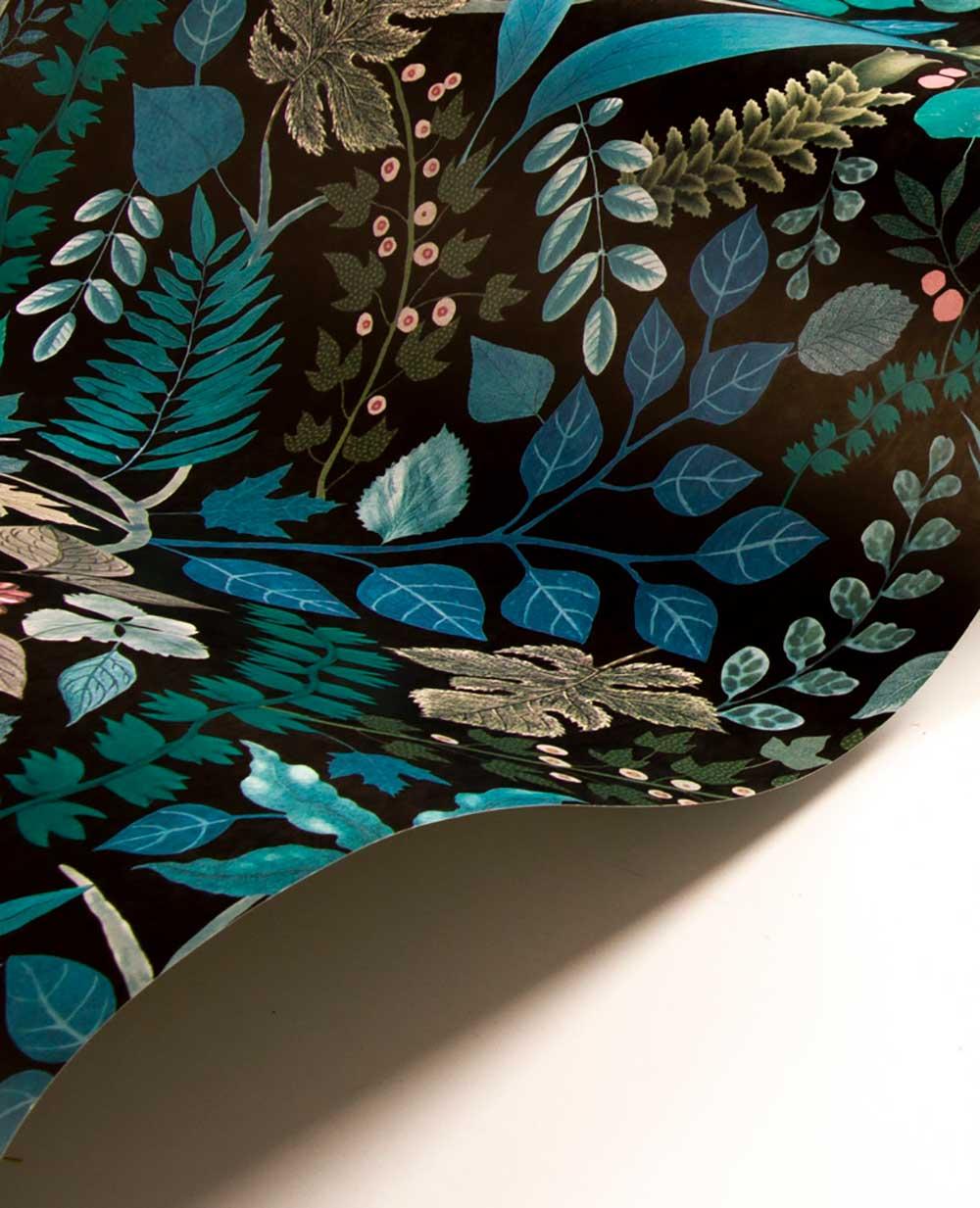 Christian Lacroix Cueillette Blue/ Black Wallpaper - Product code: PCL7024/02