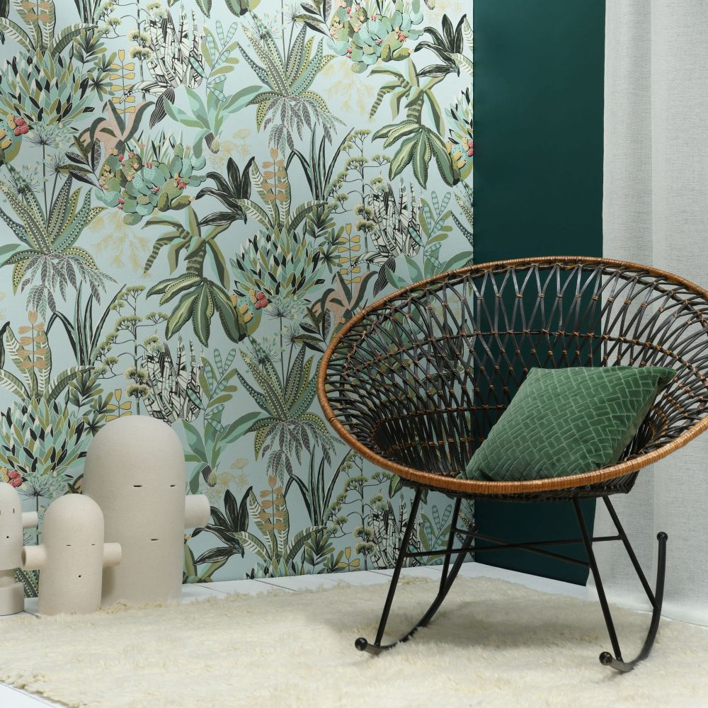 Lelievre Figari Green Wallpaper - Product code: 6440-01