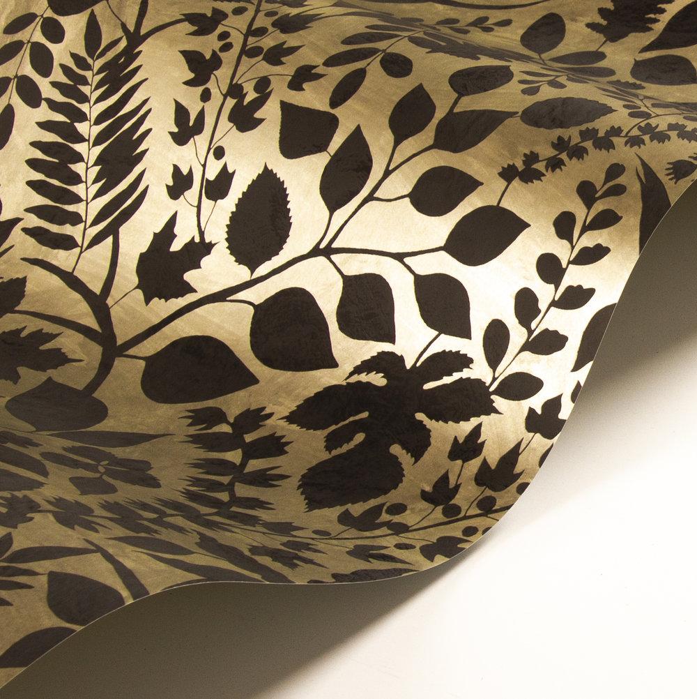 L'eden  Wallpaper - Gold/ Black - by Christian Lacroix
