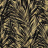 Lelievre Palmeraie Black / Gold Wallpaper - Product code: 6442-02