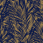 Lelievre Palmeraie Blue / Gold Wallpaper - Product code: 6442-03