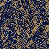 Lelievre Palmeraie Blue / Gold Wallpaper - Product code: 6442-03