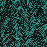 Lelievre Palmeraie Black / Peacock Wallpaper - Product code: 6442-04