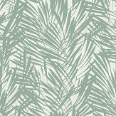 Lelievre Palmeraie Sage / Silver Wallpaper - Product code: 6442-05