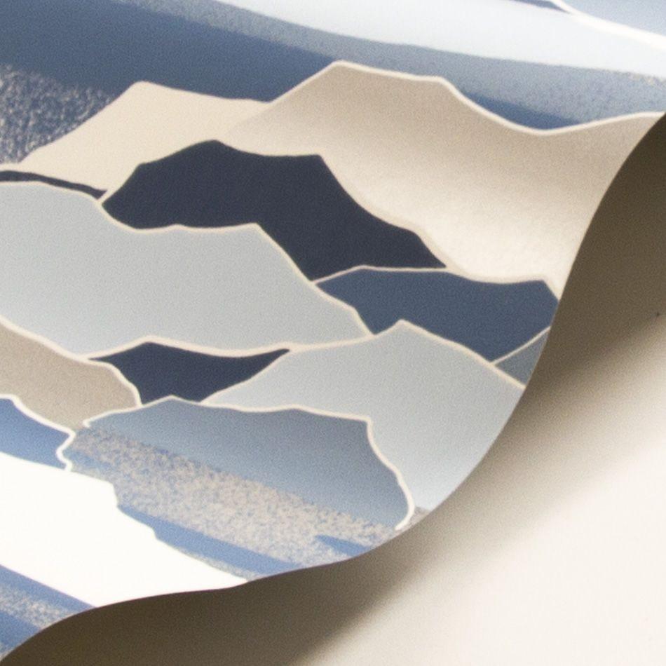 Colline Wallpaper - Blue - by Lelievre