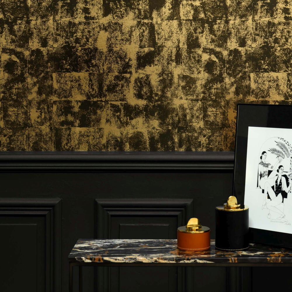 Lelievre Patine Brown / Gold Wallpaper - Product code: 6447-02