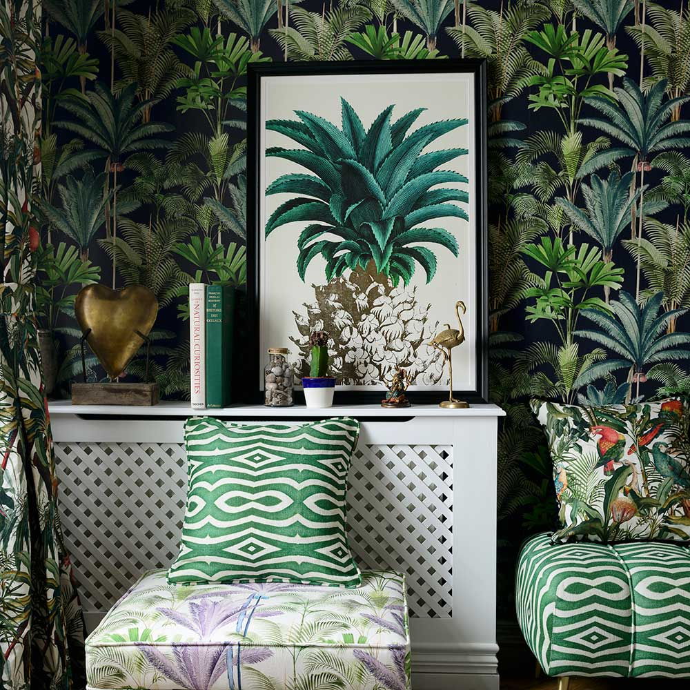 Mind the Gap Riverside Emerald Fabric - Product code: FB00003