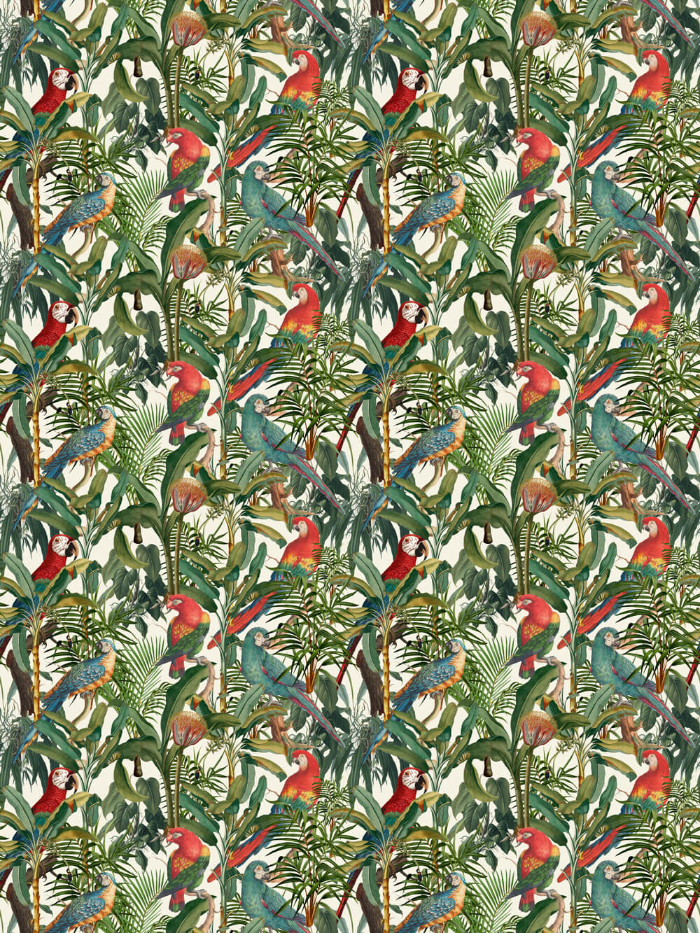 Mind the Gap Parrots of Brasil Multi-coloured Fabric - Product code: FB00008