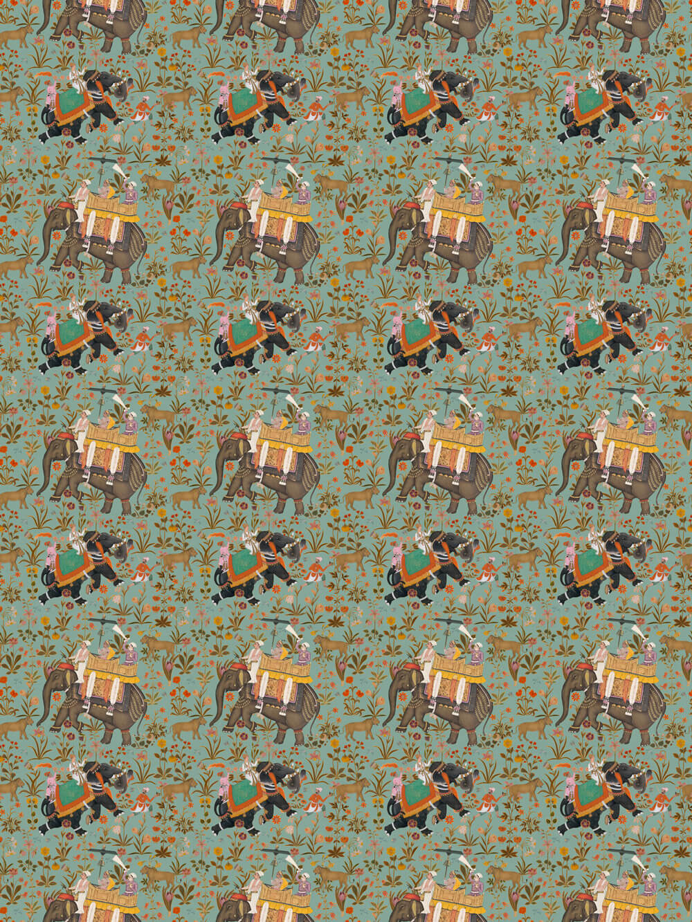 Mind the Gap Hindustan Aquamarine Fabric - Product code: FB00011
