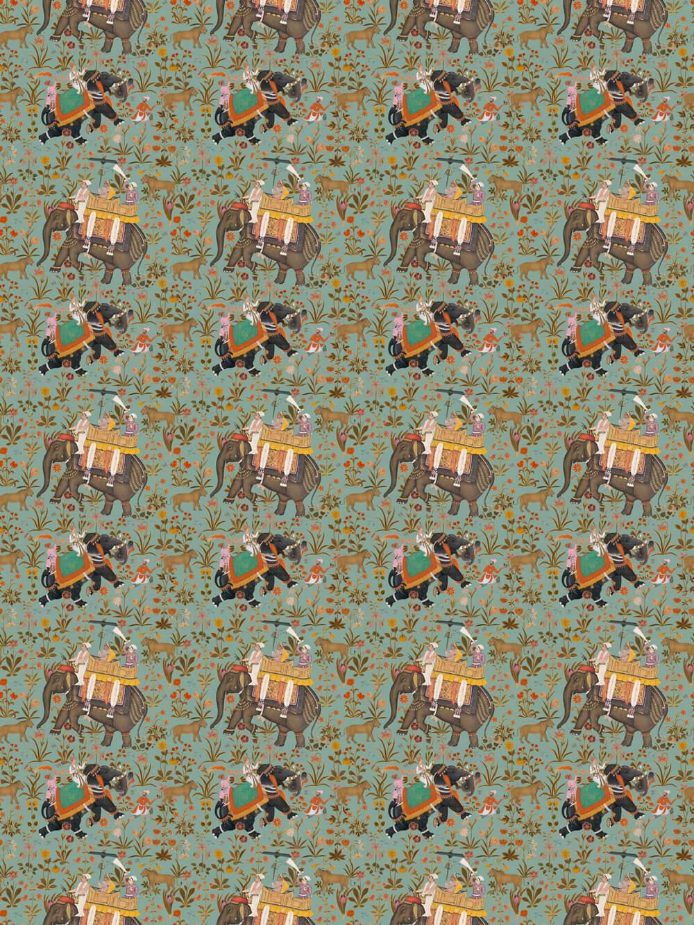 Hindustan By Mind The Gap Aquamarine Fabric
