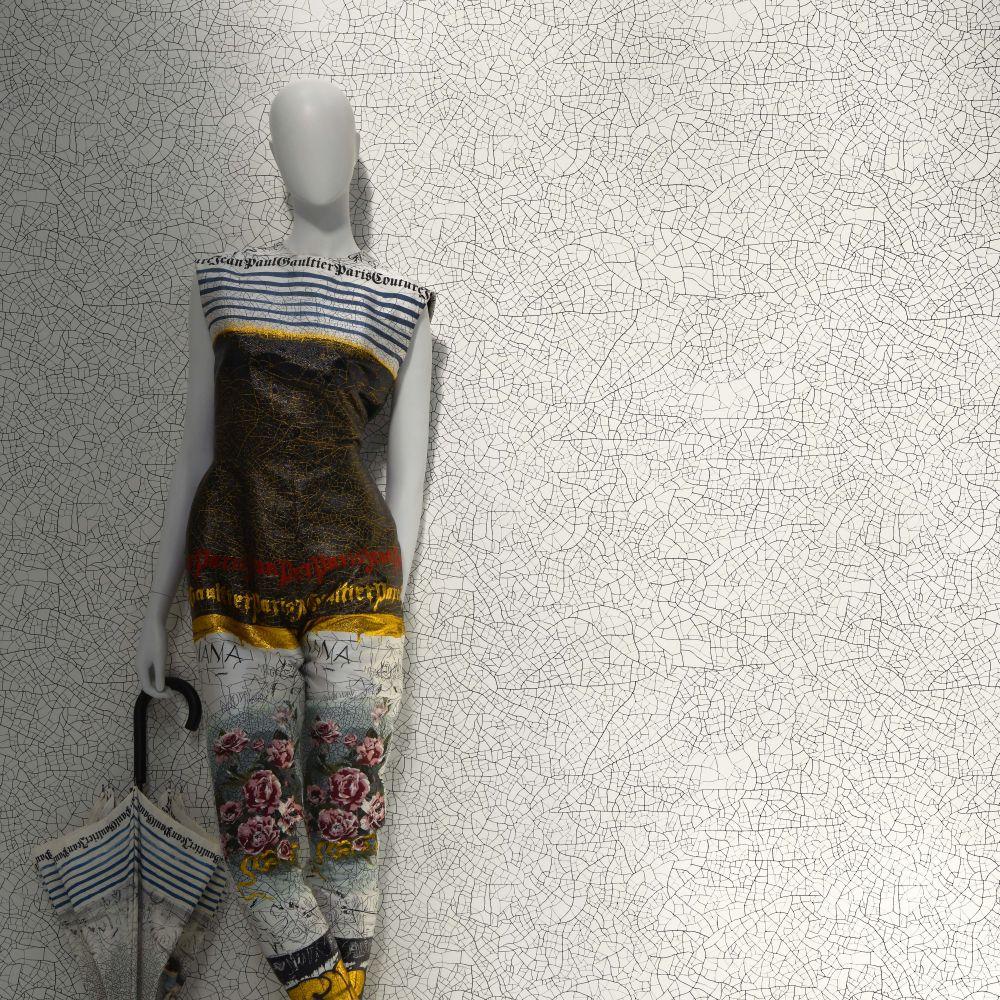 Thebaide Wallpaper - Porcelain - by Jean Paul Gaultier
