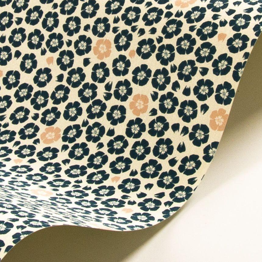 Coquelicot Wallpaper - Light Blue - by Jean Paul Gaultier