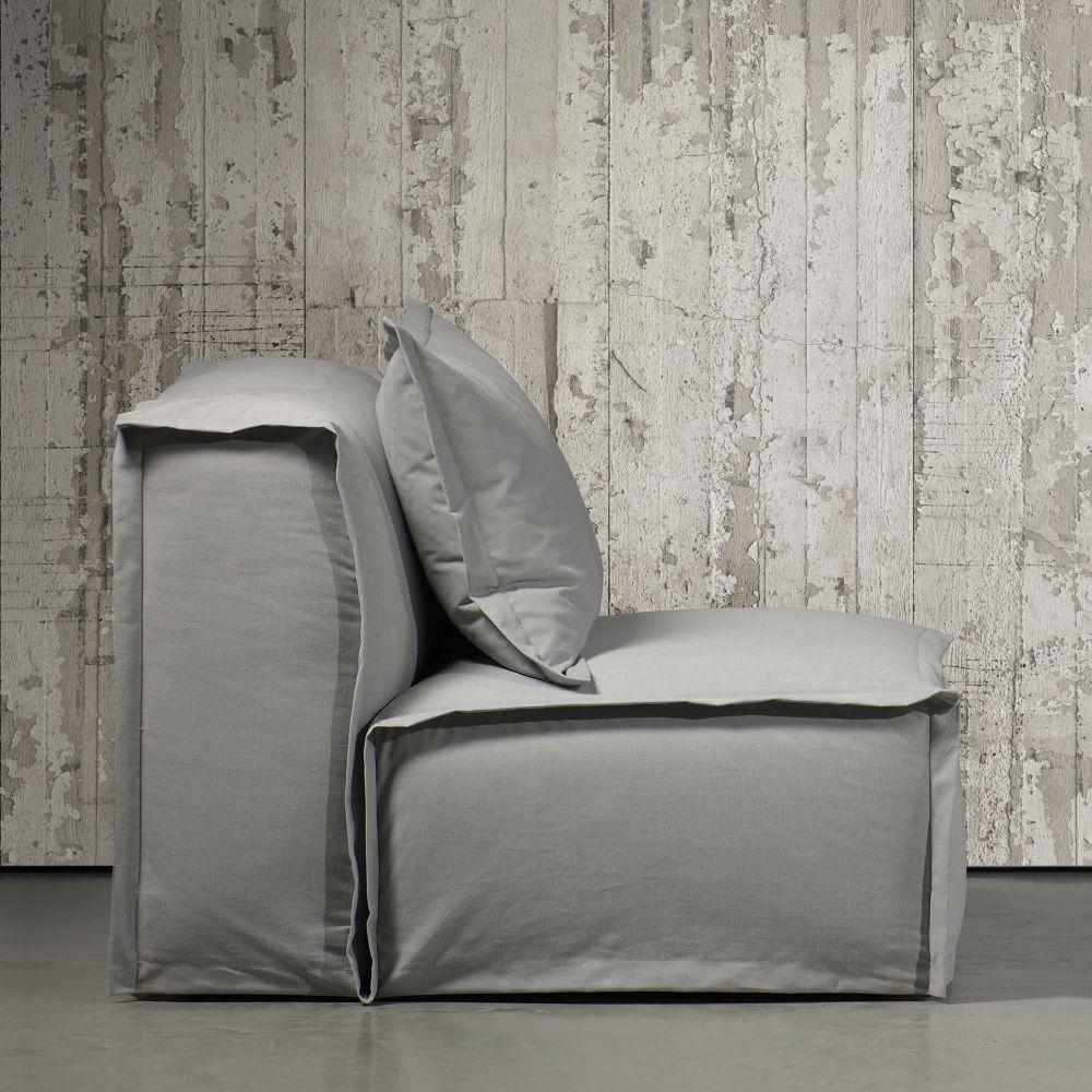Concrete Wallpaper - White Paint - by NLXL