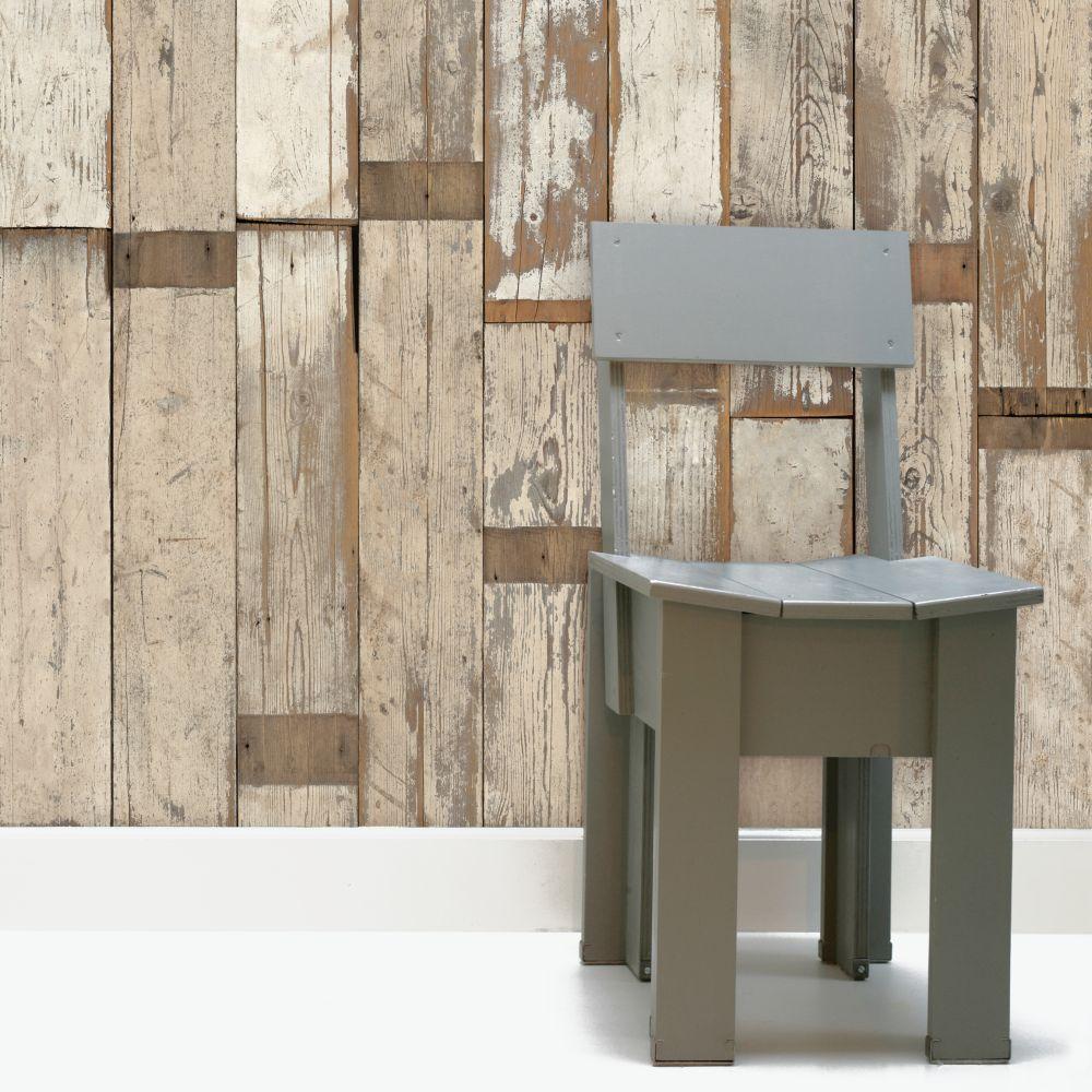 NLXL Scrapwood White Wallpaper - Product code: PHE-02