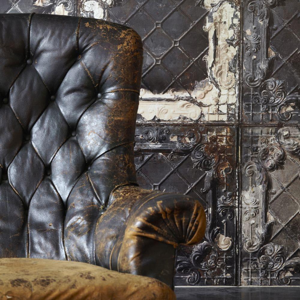 Brooklyn Tins Wallpaper - Brown - by NLXL