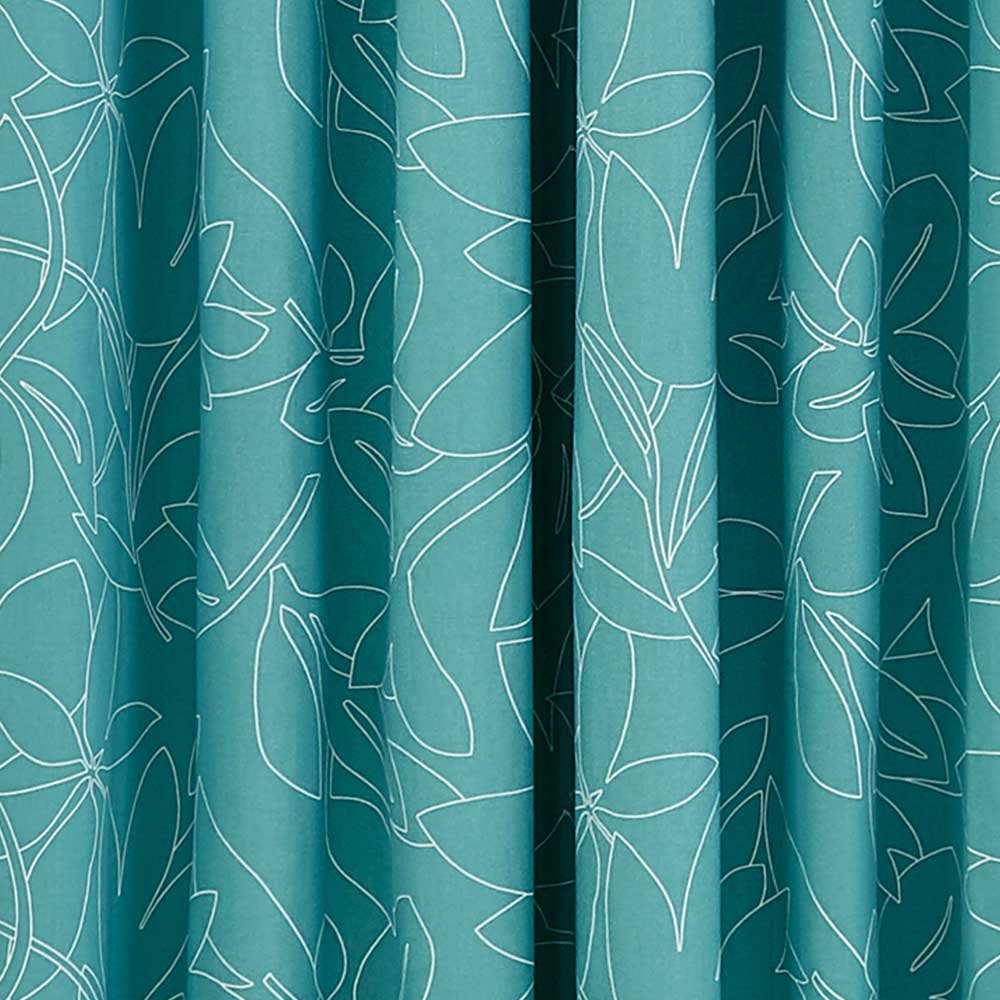 Baja Eyelet Curtains Ready Made Curtains - Teal - by Scion