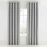 Scion Nuevo Eyelet Curtains Grey & White Ready Made Curtains - Product code: LCRNUEB7BLU