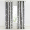 Scion Nuevo Eyelet Curtains Grey & White Ready Made Curtains - Product code: LCRNUEB7BLU