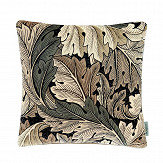 Morris Acanthus Velvet Cushion Charcoal/ Grey - Product code: DCUB257019C