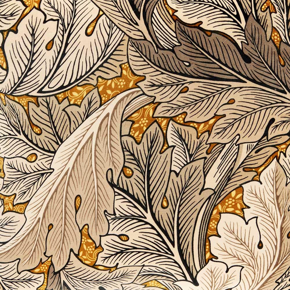 Morris Acanthus Velvet Cushion Mustard/ Grey - Product code: DCUB257020C