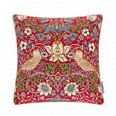 Morris Strawberry Thief Cushion Crimson/ Slate - Product code: DCUB257009B