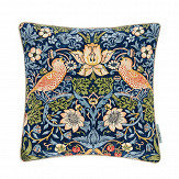 Morris Strawberry Thief Cushion Indigo/ Mineral - Product code: DCUB257010B