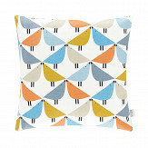 Scion Lintu Cushion Satsuma/ Sky/ Pebble - Product code: NCUB152269B