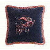 Clarke & Clarke Audubon Square Cushion Navy - Product code: M2048/01