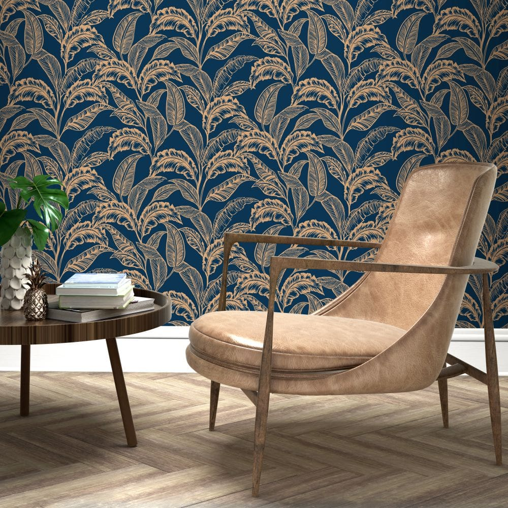 Accessorize Mozambique Ink Blue / Rose Gold Wallpaper - Product code: 275116