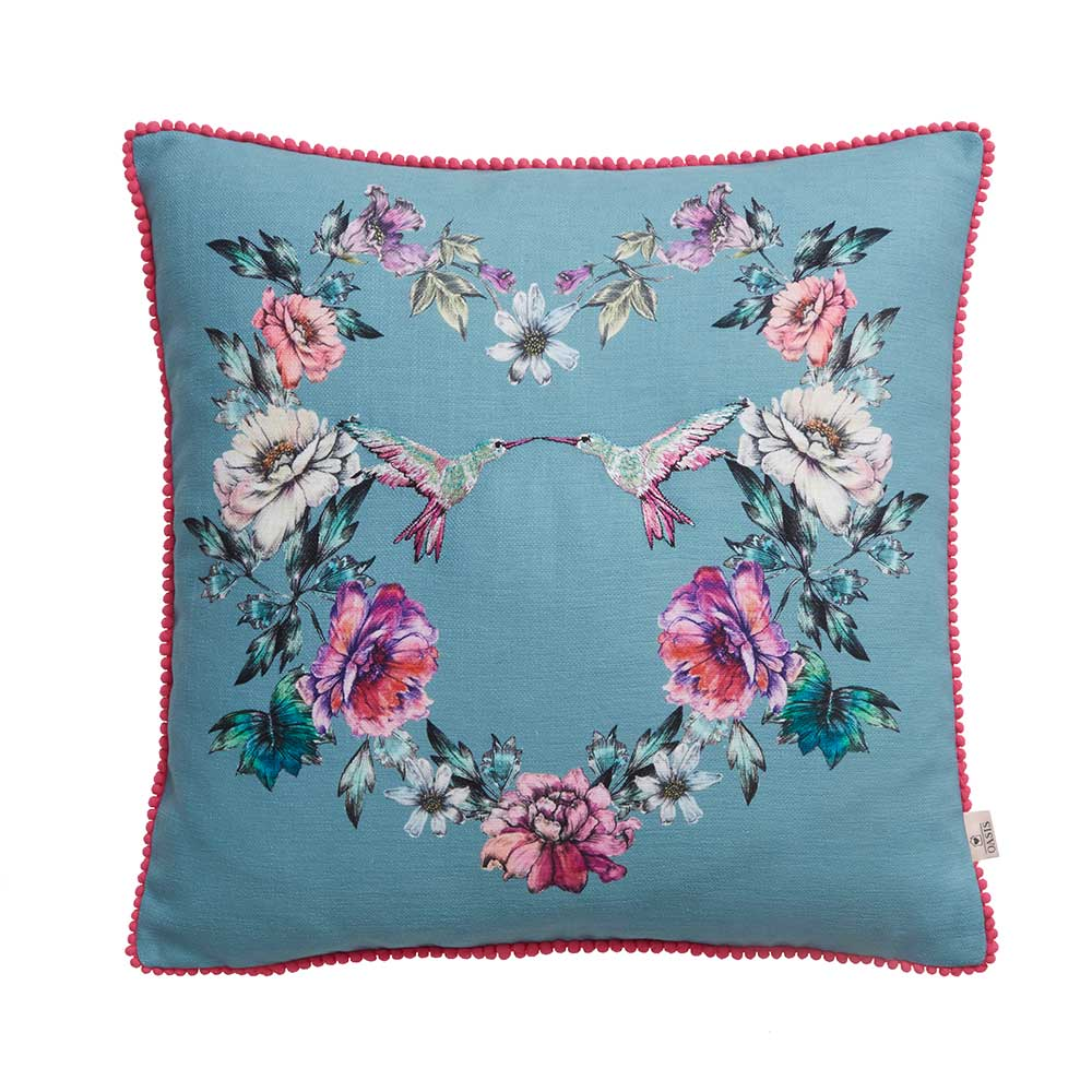 Leena Bird Cushion - Seafoam - by Oasis